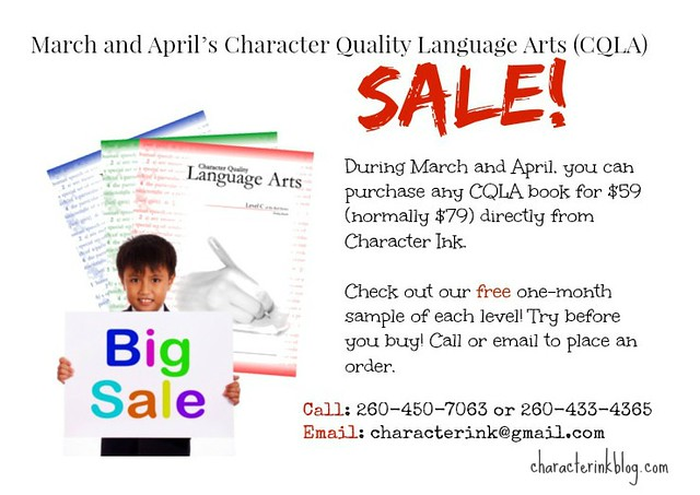 Character Ink Language Arts (CQLA) March/April SALE! Click to see samples! by Character Ink!
