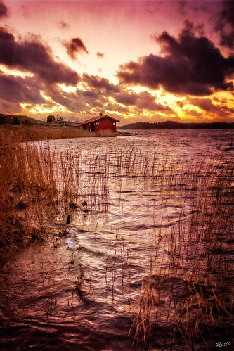 sunset sea sky clouds sweden greatphotographers canon550d