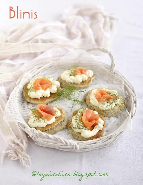 Gluten free Blinis /Blinis al salmone senza glutine