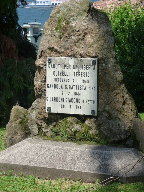 Photo of Teresio Olivelli marble plaque
