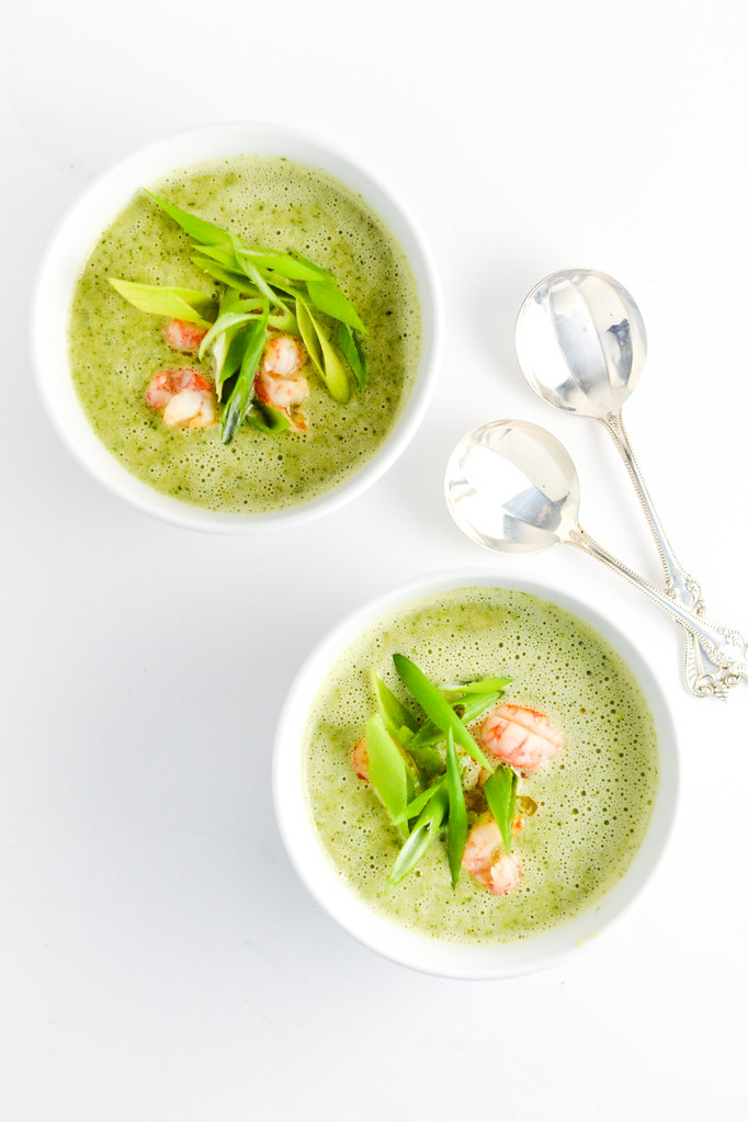 Broccoli Coconut Soup with Langostino Tails | Things I Made Today