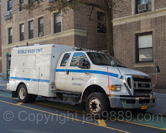 MTA Mobile Wash Unit Truck, Washington Heights, New York City