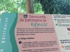Info board, Régusse