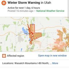 Winter Storm Warning.  Please be careful!  #JohnGStevens