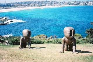 Sculptures by the sea, looking towards Bondi
