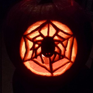 spider jack o' lantern