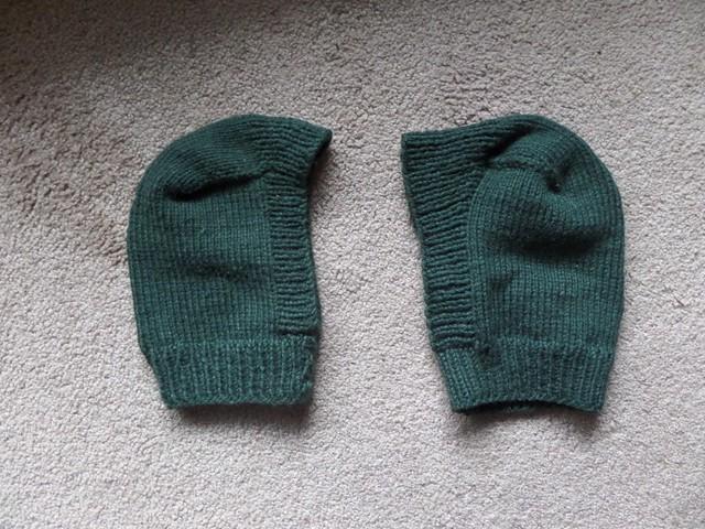 sock heel hat