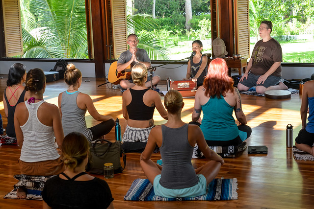A live kirtan band helps us explore different elements of our yoga practice during teacher training