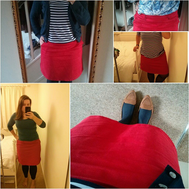 My best make - no surprise. Its my TNT, my most worn work skirt - and my most instagrammed - and I need to make more in other colours. I had a very definite vision when I made this and I bought the fabric especially. I didn't expect to buy stretch cotton