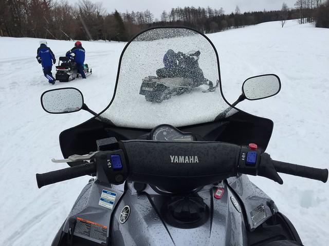ヤマハ スノーモービル 免許 体験 ブログ スノーバイク