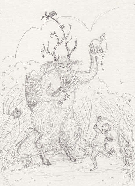 Krampus pencils
