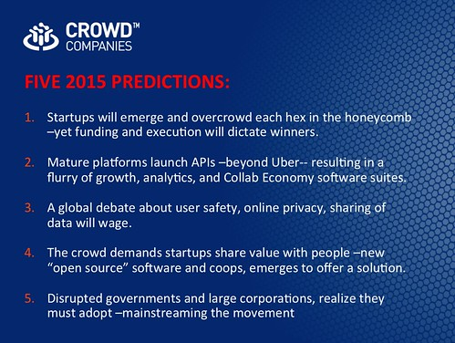 FIVE 2015 PREDICTIONS: