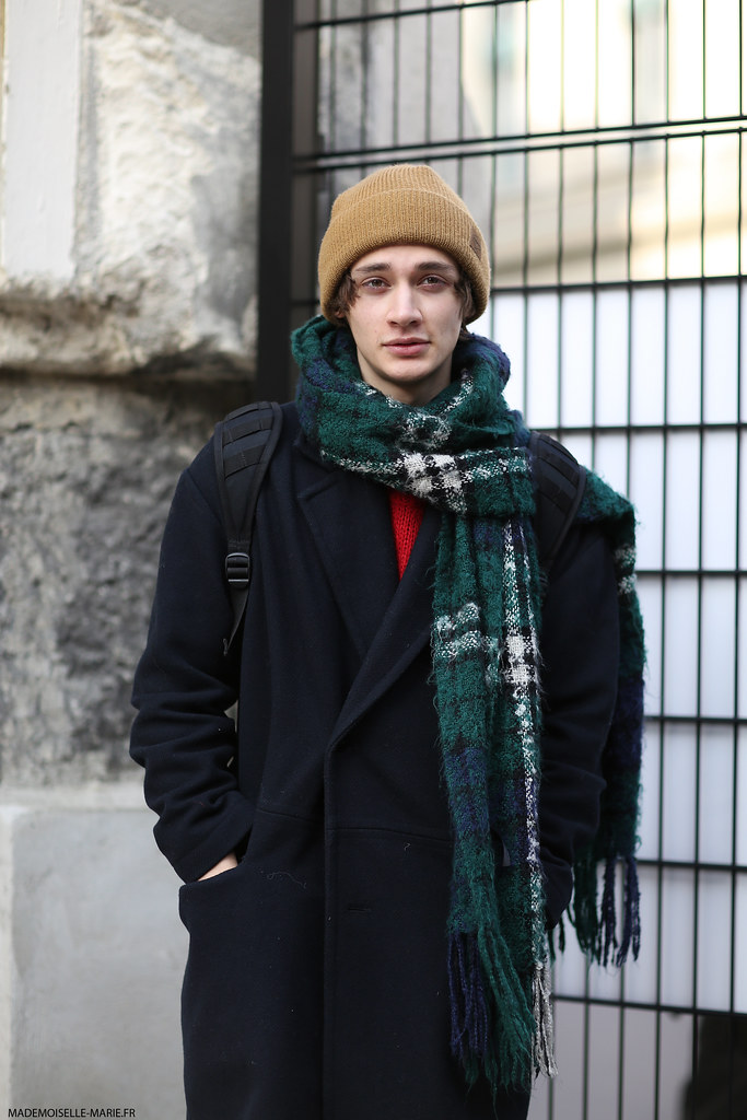Model at Paris fashion week menswear