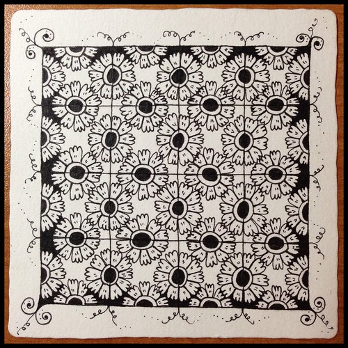 Zentangle 78 - Option 2, for The Diva's Weekly Challenge #195