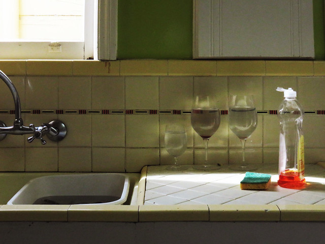 kitchen sink, afternoon.  San Francisco (2015)