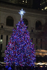 Picture Of Bryant Park 2014 Christmas Tree Taken Seconds After Being Lit Up For The 2014 Holiday Season On December 2, 2014. The Tree Is A 50-Foot Norway Spruce. Picture Taken Tuesday December 2, 2014