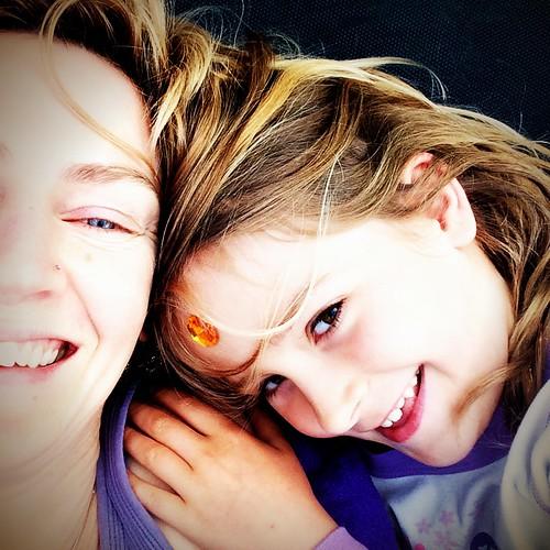 Me and Zoe. Christmas Morning. 2014.