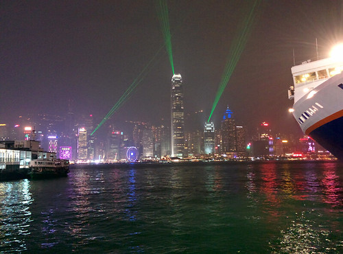 nightly laser show from Kowloon