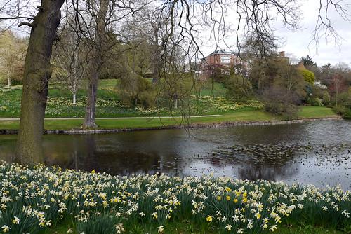 Hodnet Hall in Spring
