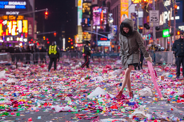 New Year's Eve Aftermath 2015 New York City