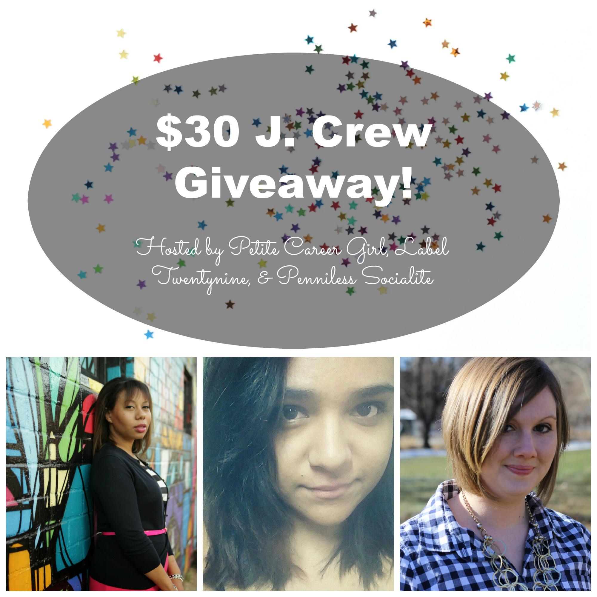 $30 J Crew Giveaway