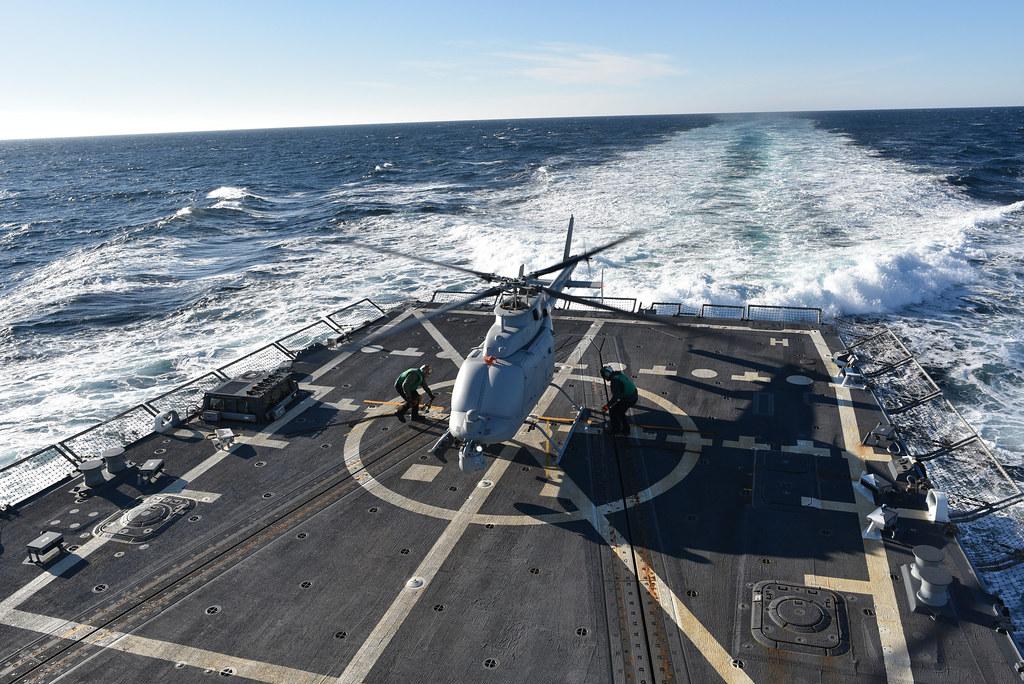 MQ-8C Fire Scout Takes First Flight on USS Jason Dunham