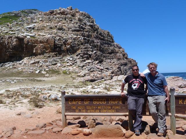 Sele y Paco Nadal en el Cabo de Buena Esperanza (Sudáfrica)
