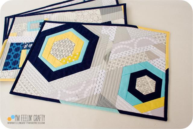 Placemats-Hexagons-ImFeelinCrafty