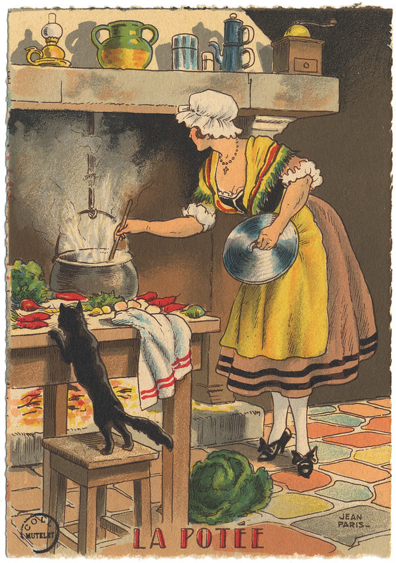 La Potée - carte postale par Jean Paris 1946 [FIC_GAS_IN 4 391]
