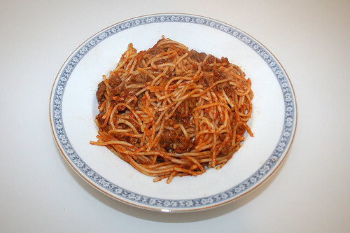 Spaghetti mit Hackfleisch-Tomatensauce / Spaghetti with ground meat tomato sauce - Reloaded