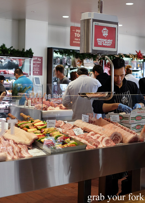 Meat display at Vic's Meat Market at Sydney Fish Market, Pyrmont