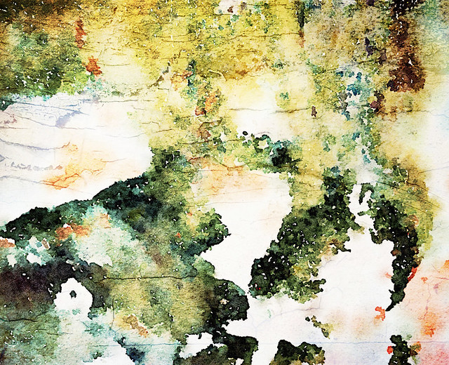 Fort Cornwallis Moldy Wall Abstract in Waterlogue and Stackable
