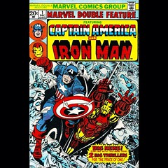 """2 Big Thrillers For The Price Of One!"" #CaptainAmerica #IronMan #comics"