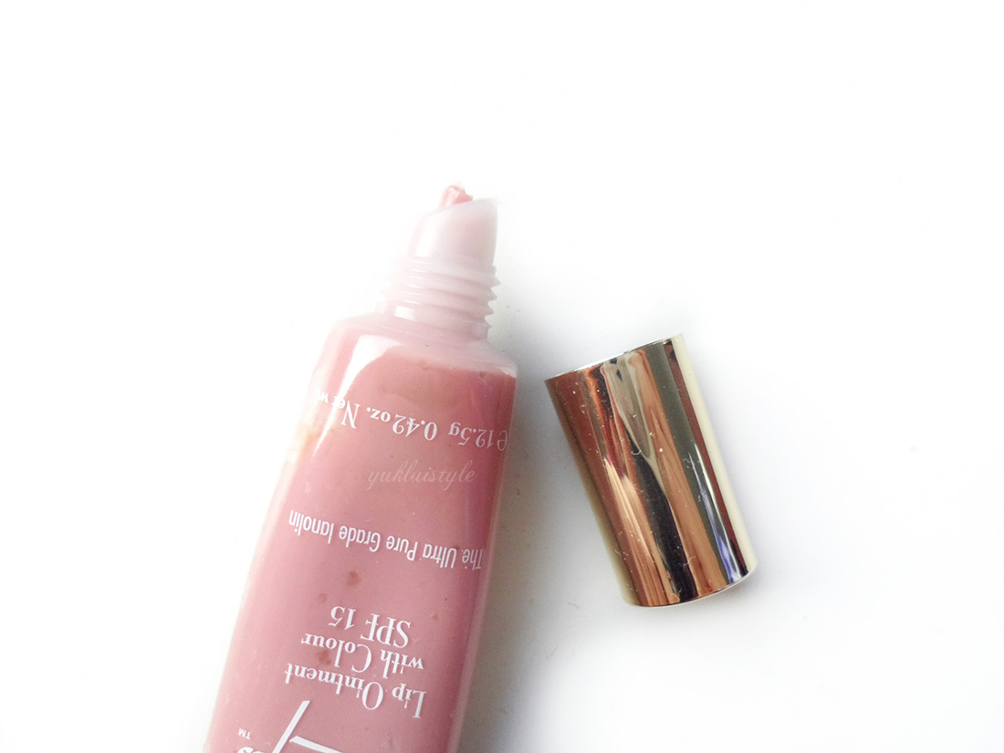 Lanolips Lip Ointment with Colour in Rose review and swatch