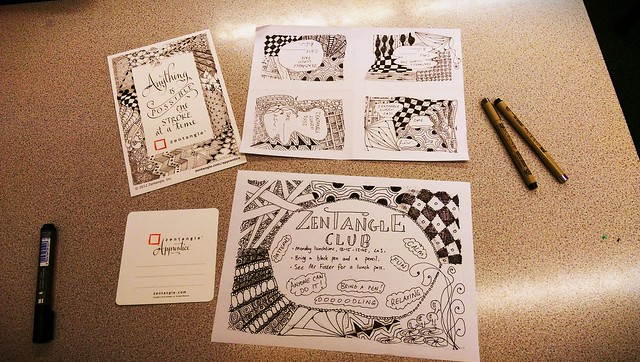 My other extra curricula club -  mindfulness and doodling with Zentangle.