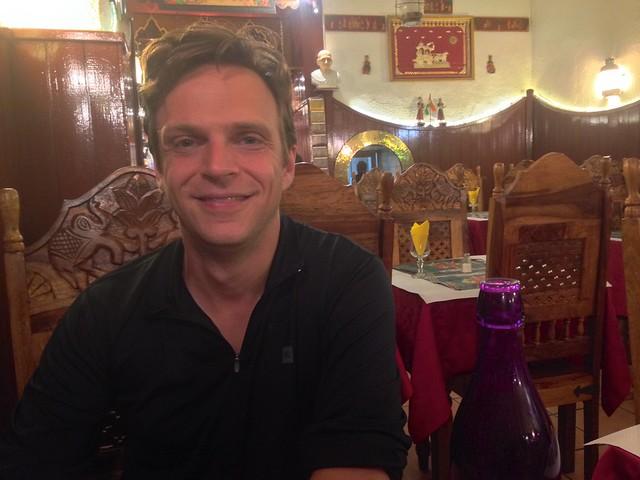 Me at Restaurant le Gandhi