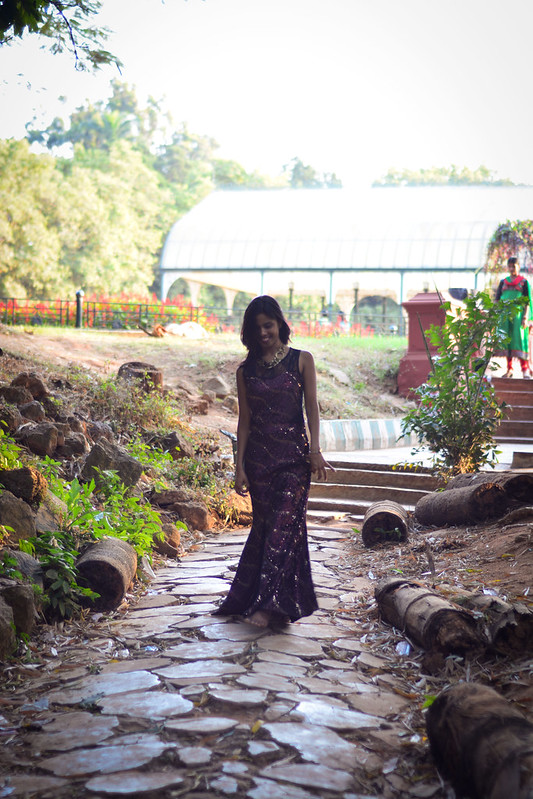 Seema in a Gown at Lalbagh Shoot
