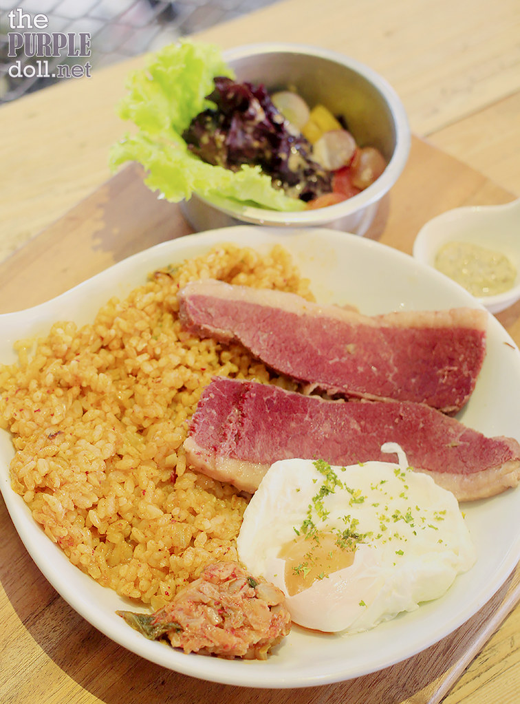 Fresh Corned Beef with Kimchi Rice (P350)