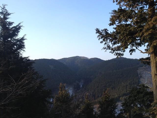 川原越から養老山