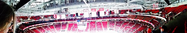 Panoramic photo of PNC Arena from 303-F-20