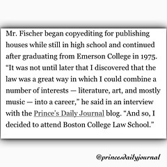 Thanks @bostonglobe for featuring my interview on your article. I feel very honored. #rip Mark Fischer. www.princesdailyjournal.com #princesdailyjournal #princeinthecity #blogger #thankyou #entrepreneur #copyright #starpower #entertainmentlaw #law #suffol