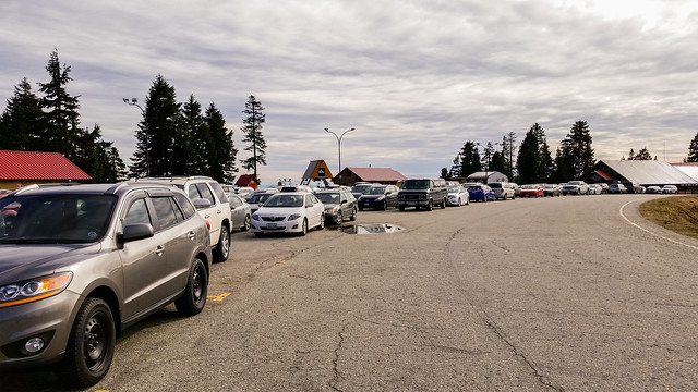 Lots of people hiking at Mt. Seymour