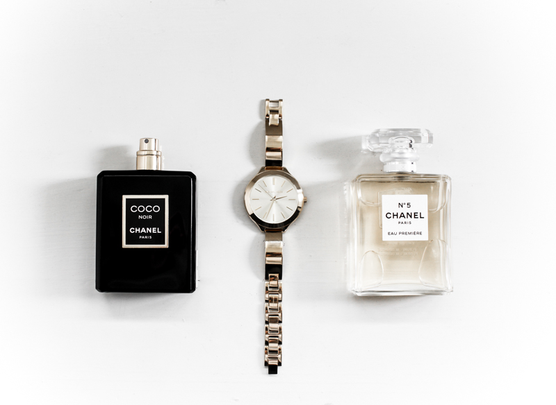 MODERN LEGACY Chanel No 5 perfume Noir Michael Kors gold thin watch Myer (1 of 1)