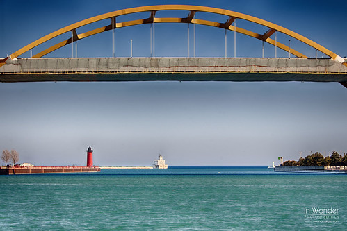 bridge lighthouse lake seascape wisconsin landscape harbor nikon michigan milwaukee hoan markadsit