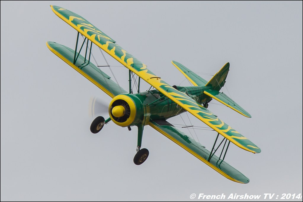 Patrouille Stearman & Waco : SIERRA WHISKY,Stearman Tiger ,Waco UPF-7, Meeting Aerien BA-133 Nancy Ochey 2014