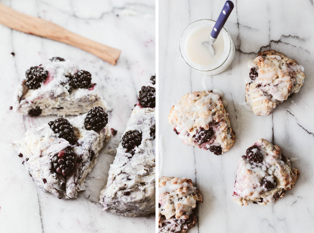 Blackberry Coconut Scones