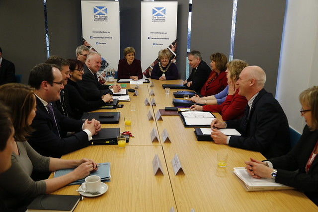 Cabinet meeting in Alloa