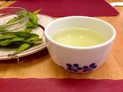 Teacup of genmaicha