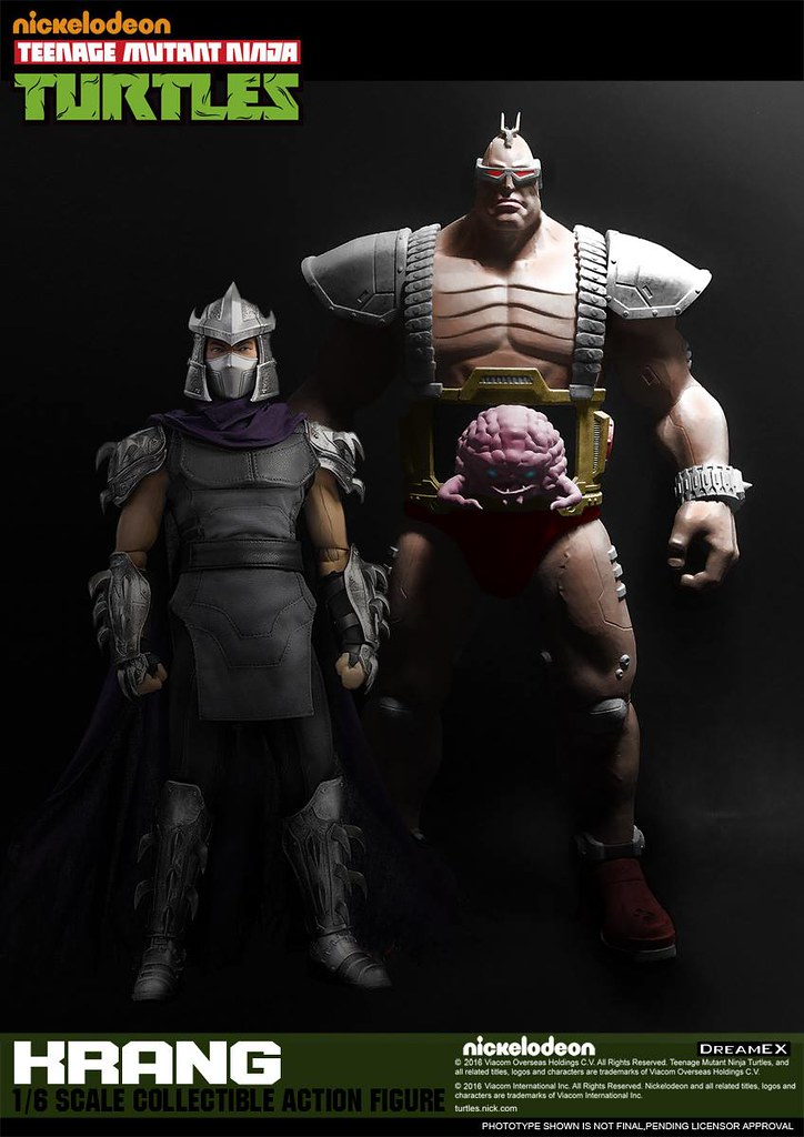 DreamEX 忍者龜系列【超級大反派:克朗】Teenage Mutant Ninja Turtles Krang 1/6 比例人偶作品