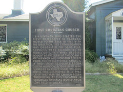 Photo of R. A. Hindman and First Christian Church of Kaufman, Kaufman, TX black plaque